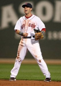 Note the dirt stains on Dustin Pedroia, reigning AL MVP.