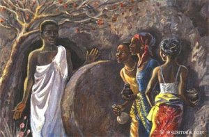 """Women at the Tomb"" (Jesus Mafa - click for more info)"