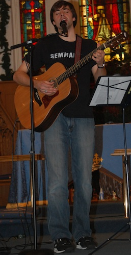 That's my guitar at a concert back in 2008.