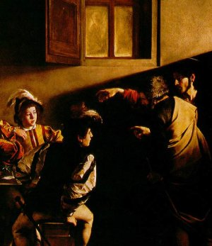 "Detail from ""The Calling of Saint Matthew"" by Carvaggio)"